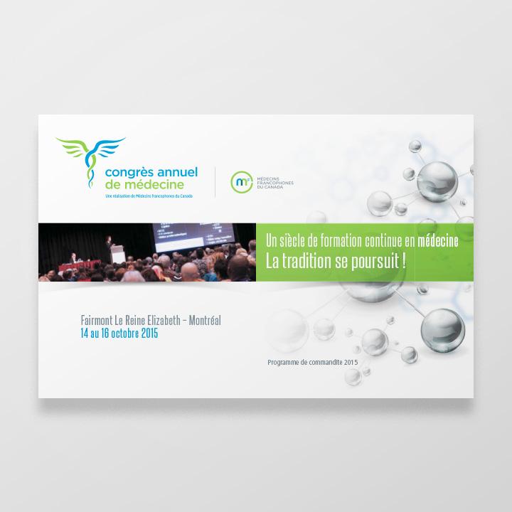 Programme de commandite, Congrès annuel de Médecins francophones du Canada (CPS Média)
