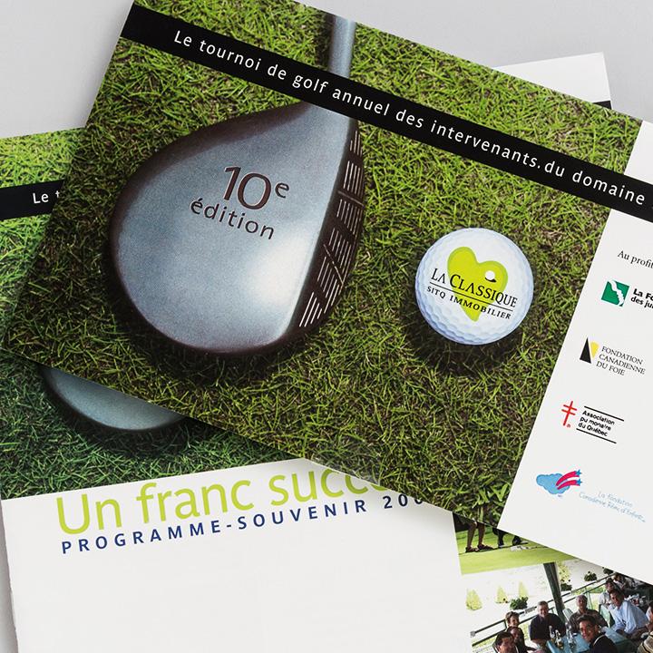 Carton d'invitation et programme-souvenir, tournoi de golf annuel (SITQ)