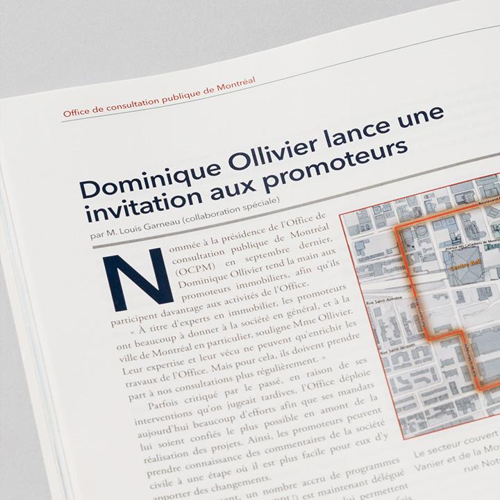 Article repris par le magazine Espace (OCPM)