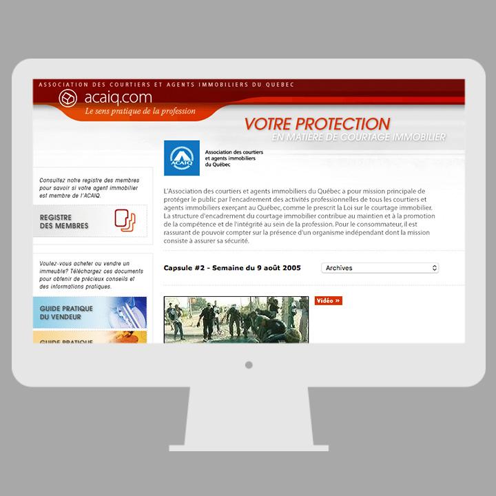 Site internet (ACAIQ)